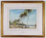 ALBERT GOODWIN, R.W.S.   The Beach, Sri Lanka