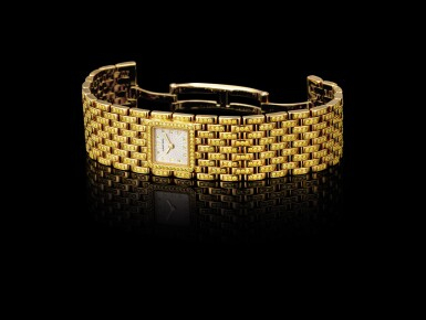 """View 4. Thumbnail of Lot 2053. CARTIER   PANTHÉRE, REFERENCE 2449, A UNIQUE YELLOW GOLD AND YELLOW DIAMOND-SET BRACELET WATCH, MADE ON SPECIAL REQUEST, CIRCA 2000   卡地亞   """"Panthére 型號2449 獨一無二黃金鑲黃鑽石鏈帶腕錶,為特殊訂製,錶殼編號99851CD,約2000年製""""."""