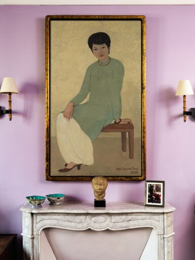 View 5. Thumbnail of Lot 1026. Mai Trung Thu 梅忠恕 | Portrait de Mademoiselle Phuong 芳小姐的肖像.