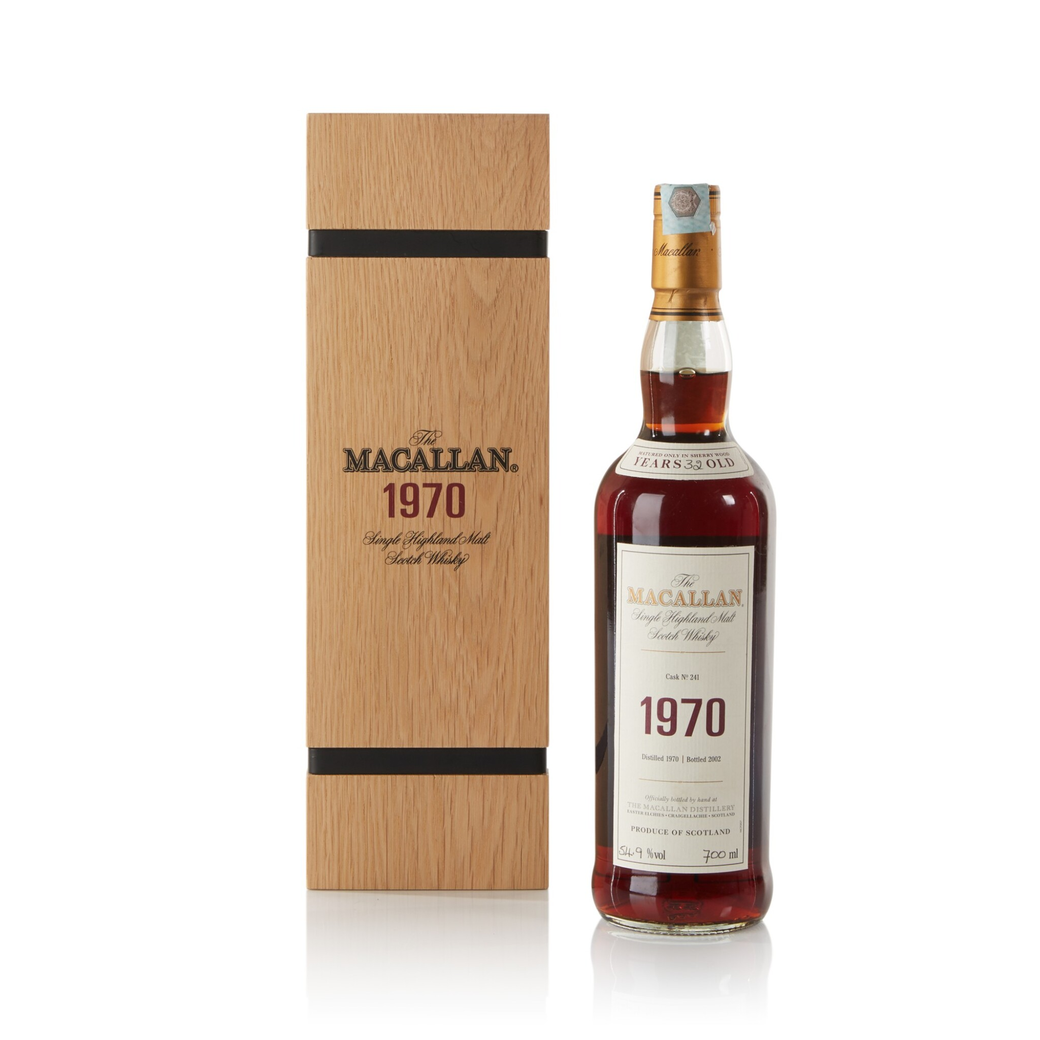 View full screen - View 1 of Lot 17. The Macallan Fine & Rare 32 Year Old 54.9 abv 1970 .