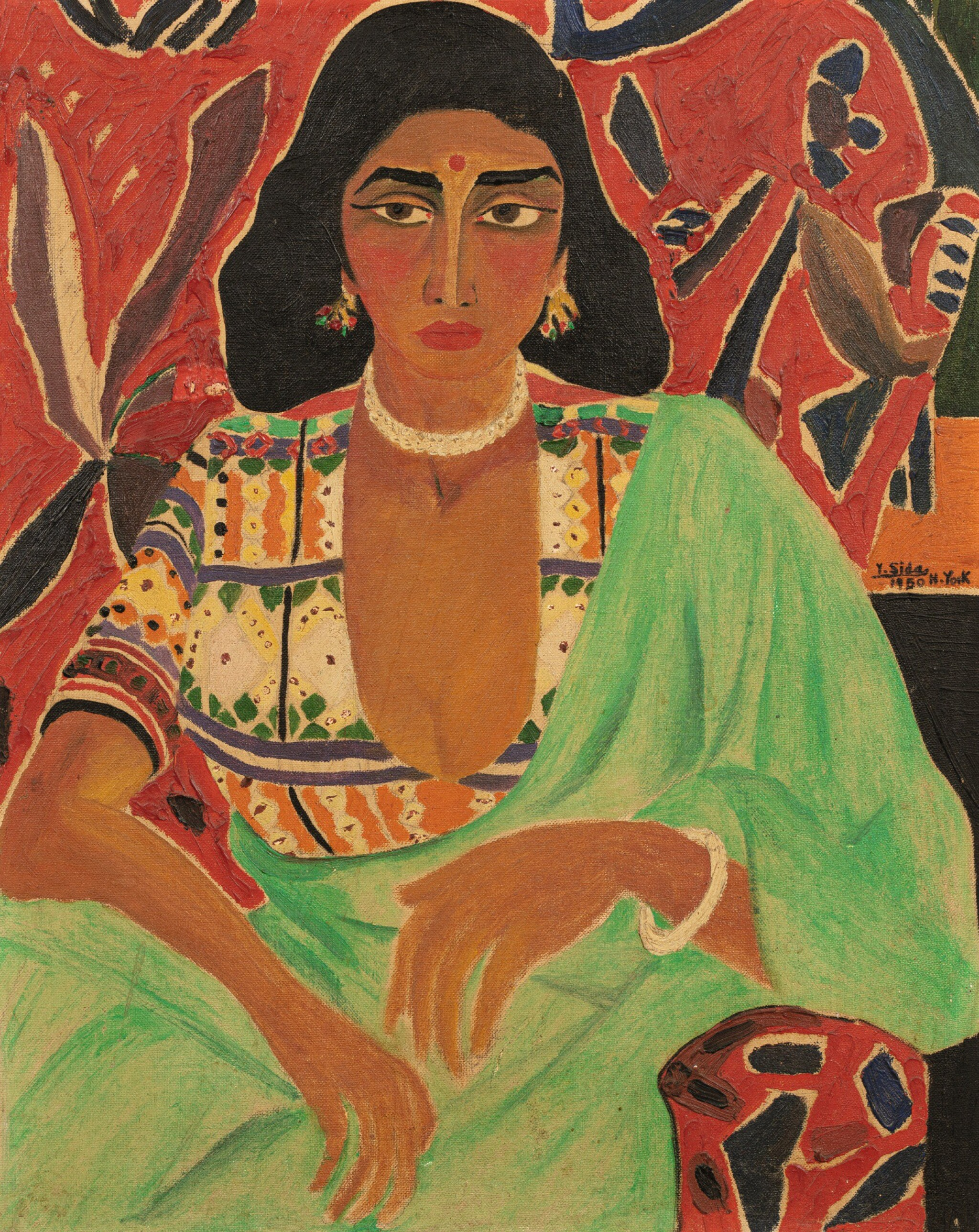 View full screen - View 1 of Lot 49. YOUSEFF SIDA   HINDYA (INDIAN WOMAN).