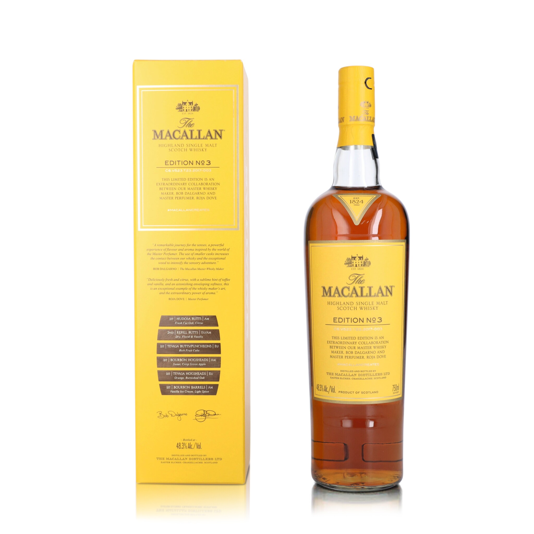 View full screen - View 1 of Lot 49. The Macallan Edition No.3 48.3 abv NV (1 BT75).