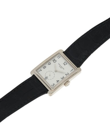 View 4. Thumbnail of Lot 160. PATEK PHILIPPE | REFERENCE 5010-012  A WHITE GOLD RECTANGULAR WRISTWATCH, MADE IN 2001.