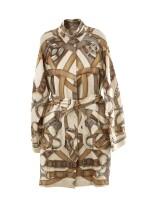 Printed silk trenchcoat, Hermès