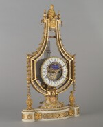 A LOUIS XVI WHITE MARBLE AND GILT BRONZE CHINOISERIE MANTEL CLOCK, LATE 18TH CENTURY