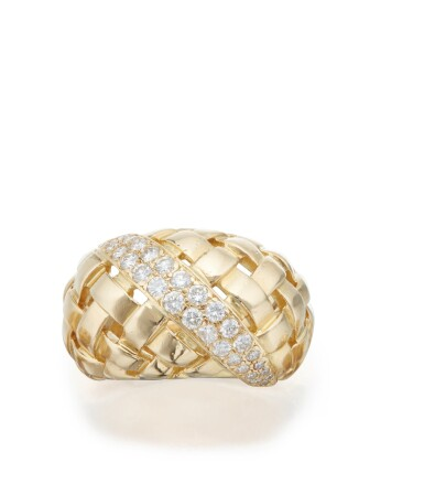 GOLD AND DIAMOND 'VANNERIE' RING, TIFFANY & CO.