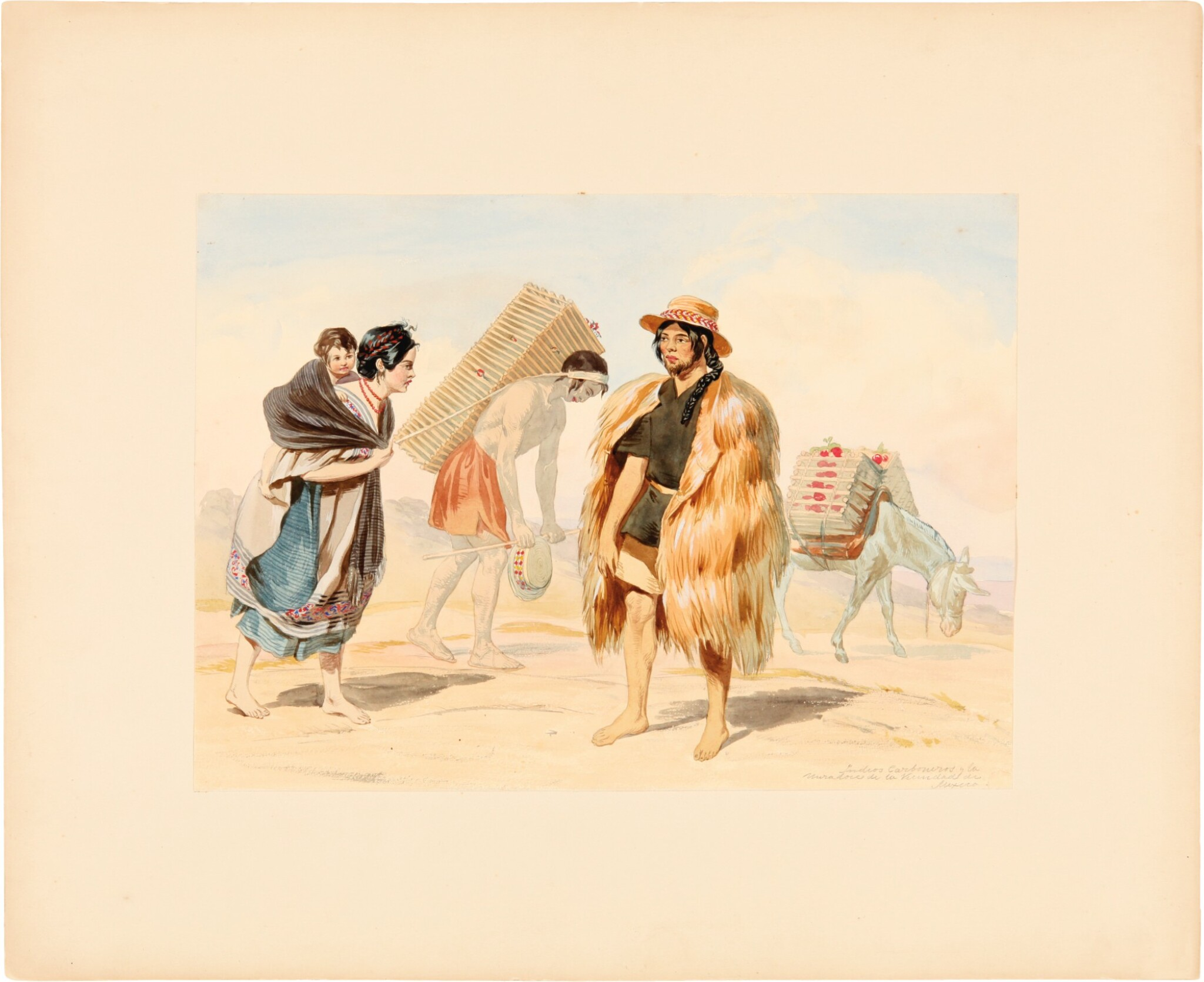 View full screen - View 1 of Lot 229. Nebel, Carl   Four highly-accomplished watercolors by one of the most important illustrators working in 19th century .