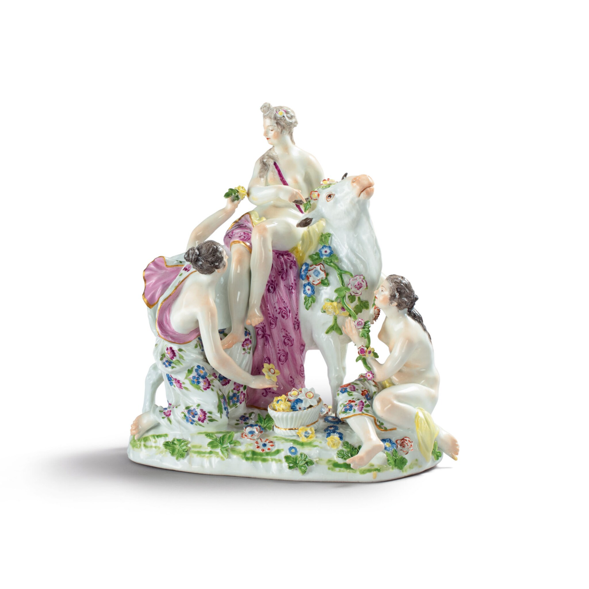 View full screen - View 1 of Lot 321. A MEISSEN GROUP OF EUROPA AND THE BULL CIRCA 1750.