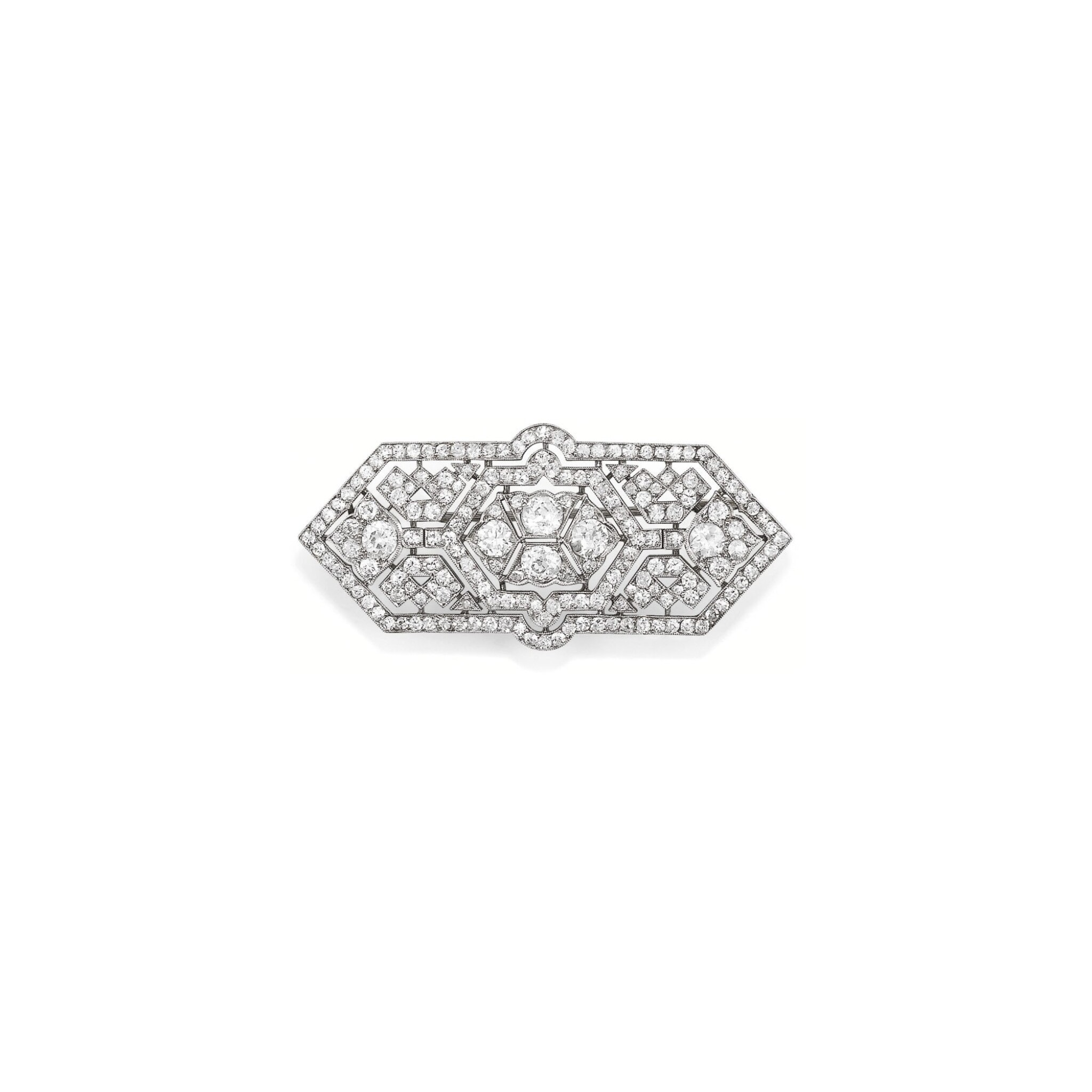 View full screen - View 1 of Lot 234. BROCHE DIAMANTS, VERS 1930 | DIAMOND BROOCH, 1930S.