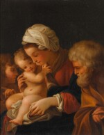 AFTER BARTOLOMEO SCHEDONI | THE HOLY FAMILY WITH SAINT JOHN THE BAPTIST