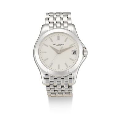 View 1. Thumbnail of Lot 139. PATEK PHILIPPE  |  REFERENCE 5107,  A WHITE GOLD BRACELET WATCH WITH DATE, MADE IN 2002.