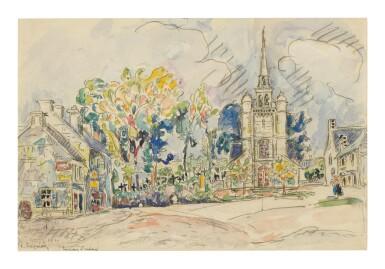 View 1. Thumbnail of Lot 6. PAUL SIGNAC   LÉZARDRIEUX, L'ÉGLISE.
