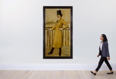 View 2. Thumbnail of Lot 150. WALTER GREAVES | JAMES ABBOTT MCNEILL WHISTLER ON THE WIDOW'S WALK AT HIS HOUSE IN LINDSEY ROW, CHELSEA.