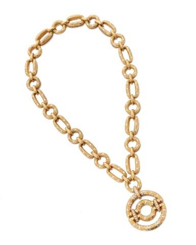 View 2. Thumbnail of Lot 90. Diamond Pendant-necklace (Collana con pendente in diamanti).