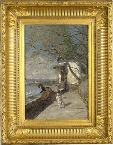 View 2. Thumbnail of Lot 27. Le repas des cygnes, 1883.