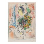 MARC CHAGALL | TRIBUTE TO THE EIFFEL TOWER (M. 416)