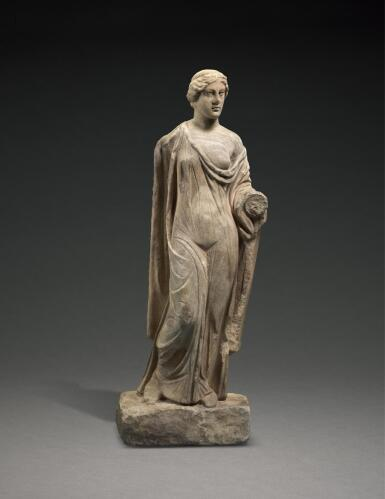 A ROMAN MARBLE FIGURE OF APHRODITE, GREECE, CIRCA 2ND CENTURY A.D.