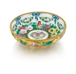 A silver-gilt and enamel bowl, Ovchinnikov, Moscow