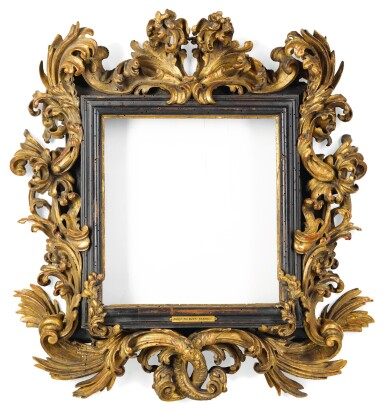 View 1. Thumbnail of Lot 123. A NORTH ITALIAN BAROQUE CARVED GILTWOOD PICTURE FRAME, IN THE MANNER OF THE FANTONI WORKSHOP EARLY 18TH CENTURY.