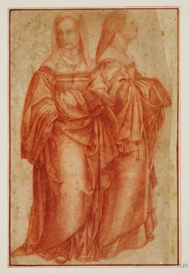ITALIAN SCHOOL, 16TH CENTURY | Two figure studies of a lady, one seen in profile