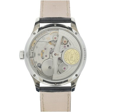 View 5. Thumbnail of Lot 23. IWC   REFERENCE IW5023-08 PORTUGIESER   A STAINLESS STEEL AUTOMATIC PERPETUAL CALENDAR WRISTWATCH MOON PHASES AND POWER RESERVE INDICATION, CIRCA 2015.