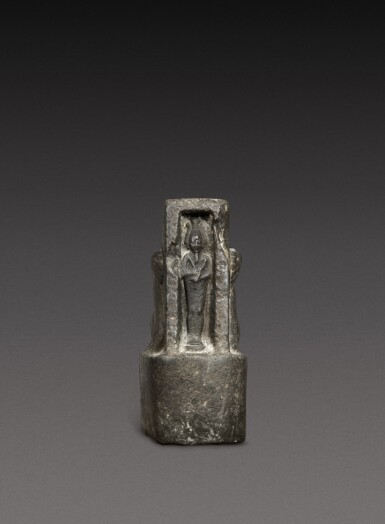 View 1. Thumbnail of Lot 47. A Fragmentary Egyptian Basalt Naophoros, 1st half of the 26th Dynasty, circa 664-600 B.C..