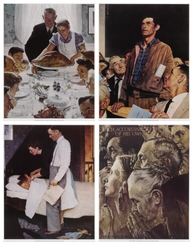 View 1 of Lot 142. The Four Freedoms: 4 prints.