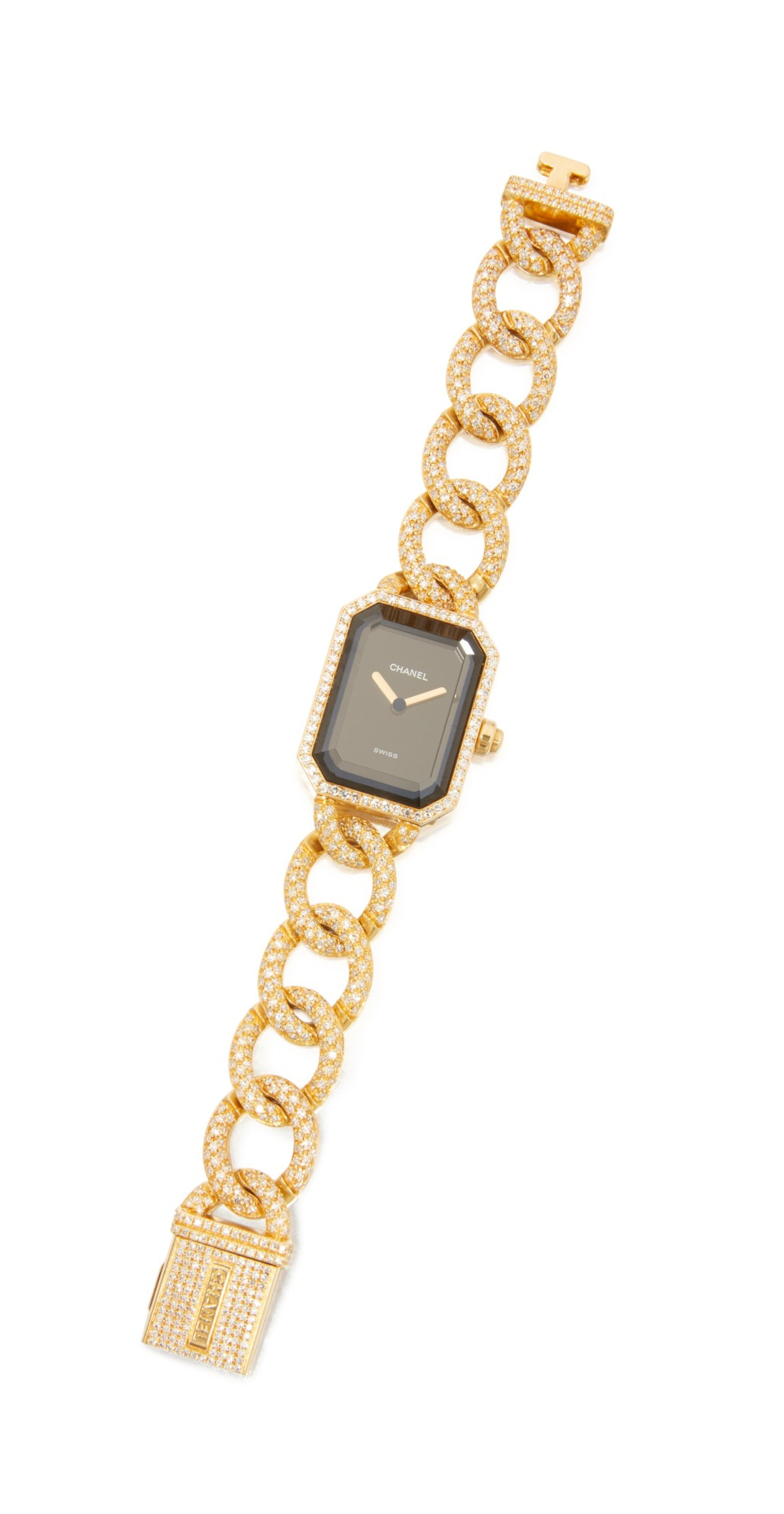 View full screen - View 1 of Lot 24. GOLD AND DIAMOND 'PREMIÈRE' WRISTWATCH, CHANEL.