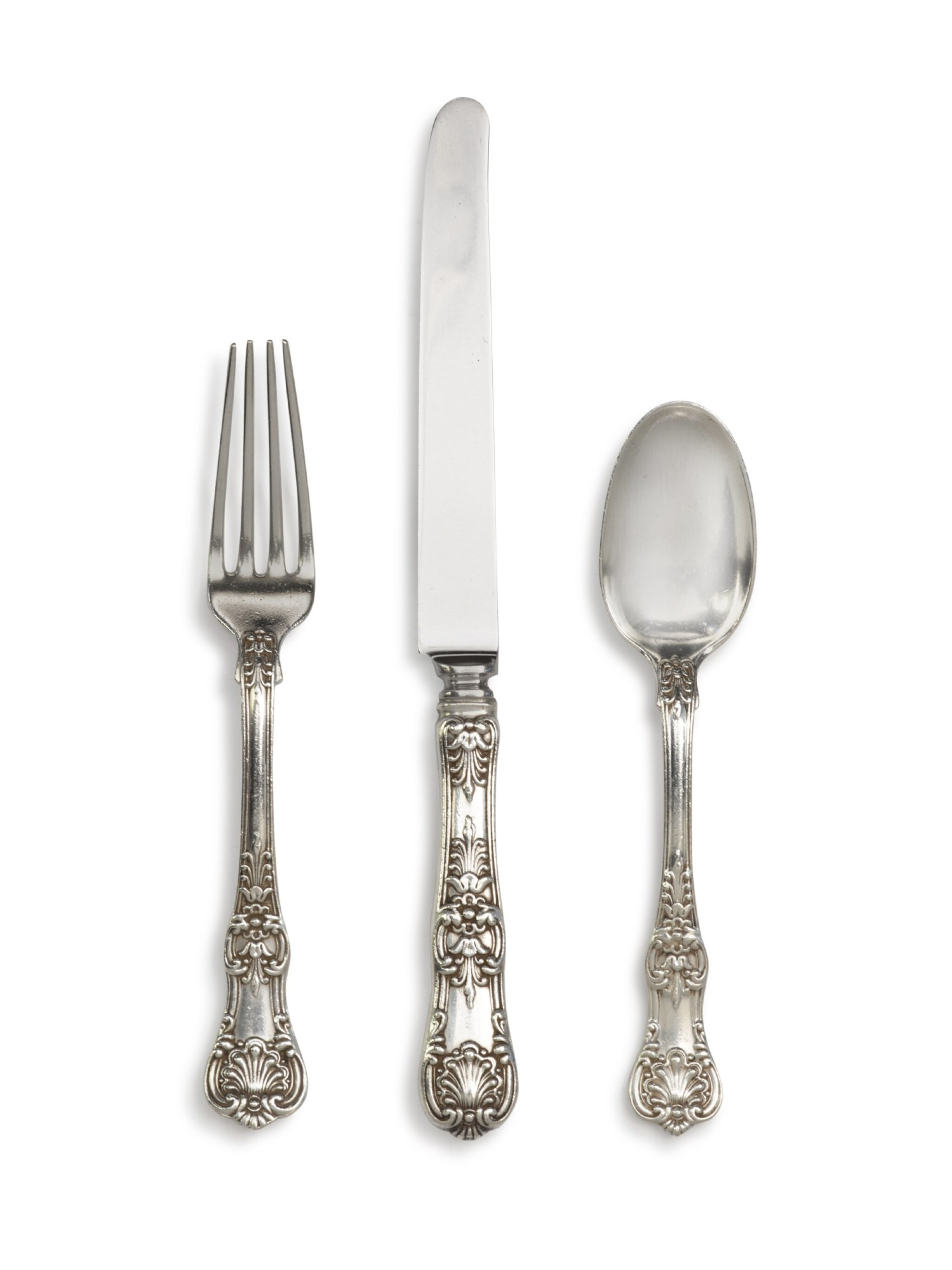 View full screen - View 1 of Lot 107. An Extensive American Silver English King Pattern Flatware Service, Tiffany & Co., New York, Late 19th Century and Later.
