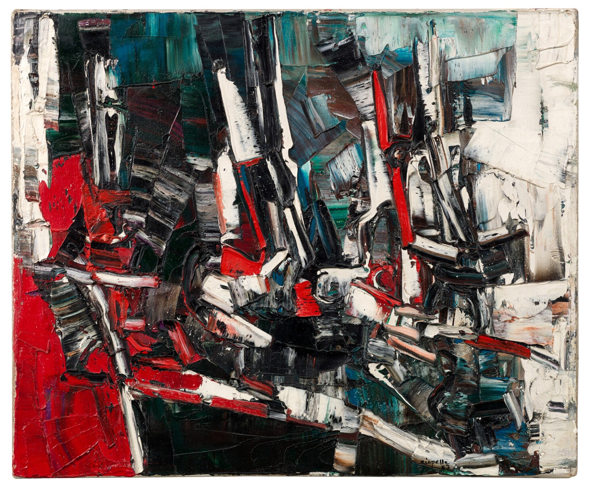 View full screen - View 1 of Lot 45. JEAN-PAUL RIOPELLE  |  JONQUES.