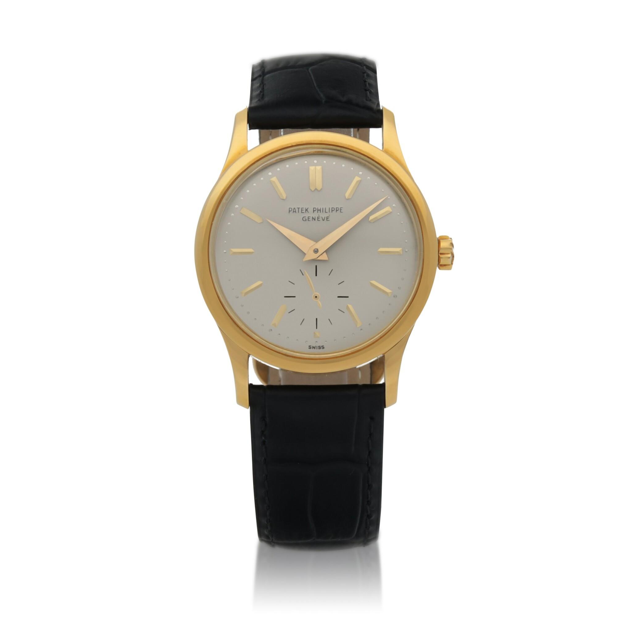View full screen - View 1 of Lot 82. Ref. 3403 Yellow gold wristwatch Made in 1958 | 百達翡麗 3403型號黃金腕錶,1958年製.