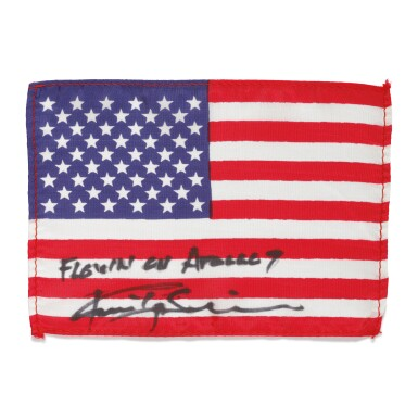 [APOLLO 9]. FLOWN ON APOLLO 9. UNITED STATES OF AMERICA FLAG FROM THE COLLECTION OF RUSSELL SCHWEICKART