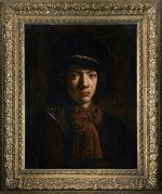 ATTRIBUTED TO DANIEL DE KONINCK   PORTRAIT OF A YOUNG MAN, BUST-LENGTH, WEARING A RED SCARF