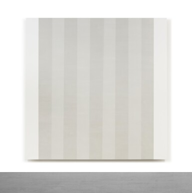 View 1. Thumbnail of Lot 24. Untitled (White Multiband with White Sides, Beveled).