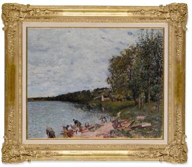View 2. Thumbnail of Lot 43. Lavandières près de Champagne.