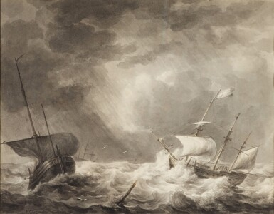 View 1. Thumbnail of Lot 34. Storm at sea.