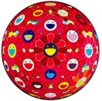 TAKASHI MURAKAMI | RED FLOWER BALL (3-D); AND FLOWER BALL BLOOD (3-D)