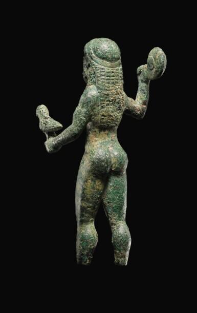 View 6. Thumbnail of Lot 7. A GREEK BRONZE FIGURE OF ZEUS, 6TH CENTURY B.C..