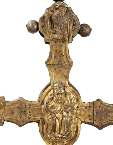 View 4. Thumbnail of Lot 3. ITALIAN, PROBABLY TUSCANY, CIRCA 1500   AN IMPORTANT DOUBLE-SIDED PROCESSIONAL CROSS.