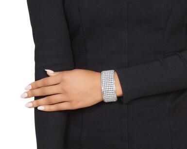 View 3. Thumbnail of Lot 408. Diamond Bracelet.