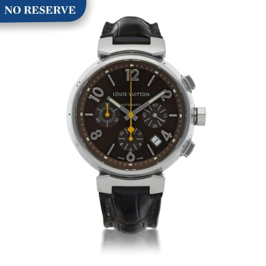 View 1. Thumbnail of Lot 170. REF RB0925 STAINLESS STEEL CHRONOGRAPH WRISTWATCH WITH DATE CIRCA 2010.