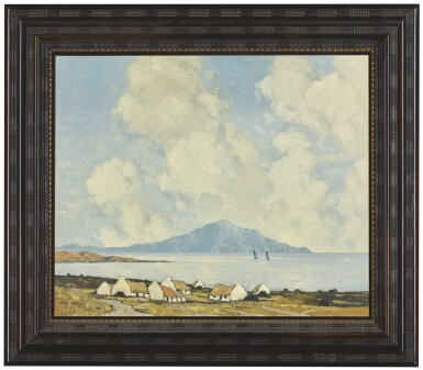View 2. Thumbnail of Lot 57. PAUL HENRY, R.H.A., R.U.A. | CLARE ISLAND FROM ACHILL.