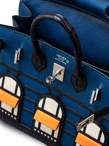 View 5. Thumbnail of Lot 20. Limited Edition Birkin Faubourg Sellier 20 in Veau Madame, Matte Alligator, Sombrero, Epsom and Swift Leather with Palladium Hardware, 2019.