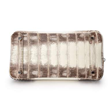 View 5. Thumbnail of Lot 1871. White Himalaya Matte Niloticus Crocodile Birkin 30 Palladium Hardware, 2016 | 愛馬仕 | 白色啞光尼羅河鱷魚皮30公分喜馬拉雅柏金包配鍍鈀金屬件,2016年.