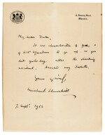 CHURCHILL | Autograph letter signed, to Neville Duke, 7 September 1952