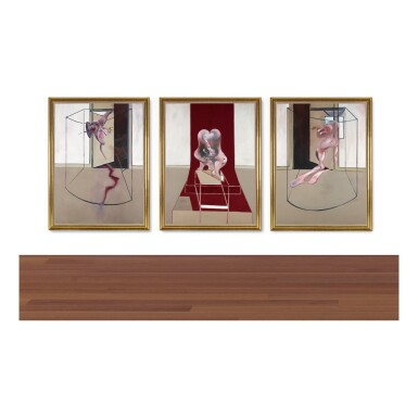 View 2. Thumbnail of Lot 105. FRANCIS BACON | TRIPTYCH INSPIRED BY THE ORESTEIA OF AESCHYLUS.
