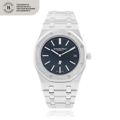 View 1. Thumbnail of Lot 12. Royal Oak, Ref. 15202ST.OO.1240ST.01 Stainless steel wristwatch with date and bracelet Circa 2013   愛彼15202ST.OO.1240ST.01型號「Royal Oak」精鋼鍊帶腕錶備日期顯示,年份約2013.