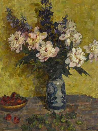 View 1. Thumbnail of Lot 151. Still Life with Peonies.