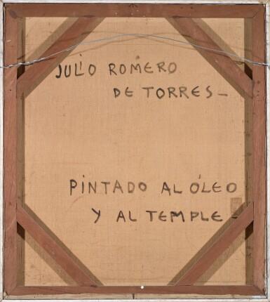 View 2. Thumbnail of Lot 25. JULIO ROMERO DE TORRES   La 'Cantaora', Retrato de Sara Secades (The 'Singer', Sara Secades).