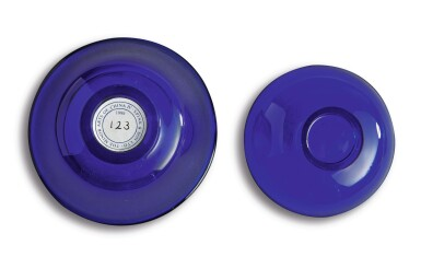 View 7. Thumbnail of Lot 1012. A SAPPHIRE-BLUE GLASS BOWL AND COVER, QING DYNASTY, 18TH / 19TH CENTURY.